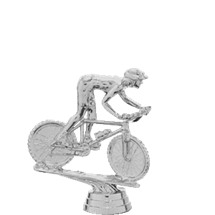 Mountain Bike Silver Trophy Figure
