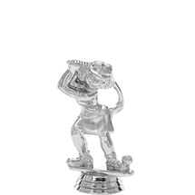 Comic Golfer Female Silver Trophy Figure