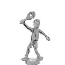 Comic Tennis Male Silver Trophy Figure