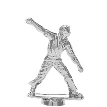 Cricket Bowl Silver Trophy Figure