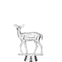 Doe Deer Silver Trophy Figure