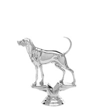 Coonhound Dog Trophy Figure - Silver