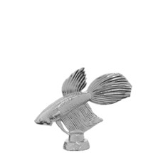 Betta Fish Trophy Figure - Silver
