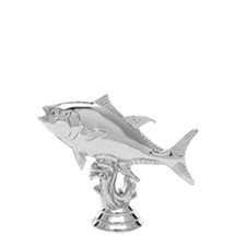 Tuna Fish Silver Trophy Figure