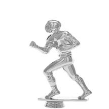 Football Runner Silver Trophy Figure
