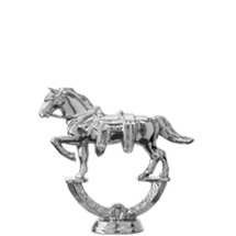 Parade Horse Silver Trophy Figure