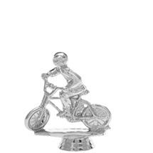 Motocross Bike w/Rider Silver Trophy Figure