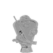 Inline Hockey Skate 3-D Silver Trophy Figure