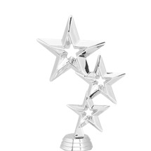 Triple Stars Silver Trophy Figure
