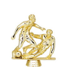 Soccer Double Action Male Gold Trophy Figure