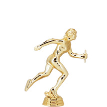 Track Relay Female Gold Trophy Figure