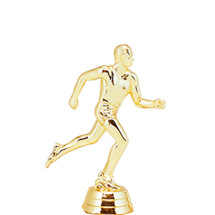 Track Runner Male Gold Trophy Figure