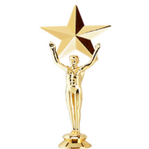 Victory Star Gold Trophy Figure