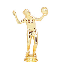 Volleyball Female Gold Trophy Figure