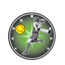 Female Softball Emblem