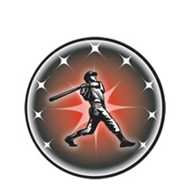 Male Baseball Batter Emblem