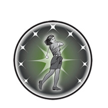 Female Golf Emblem