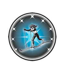 Female Cross Country Skier Emblem