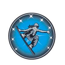Female Snowboarding Emblem
