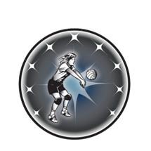 Female Volleyball Emblem