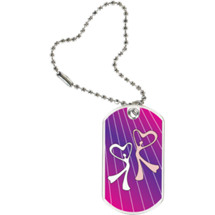 "Dance Dog Tag - 1 1/8 x 2"" Dance Sport Tag with Key Chain"