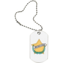 "1 1/8 x 2"" Principal's Award Sports Tag with Key Chain"