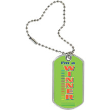 "1 1/8 x 2"" I'm a Winner Sport Tag with Key Chain"