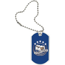 "1 1/8 x 2"" Student Council Sports Tag with Key Chain"