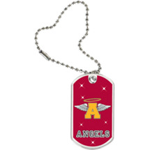 "1 1/8 x 2"" Angels Mascot Sports Tag with Key Chain"