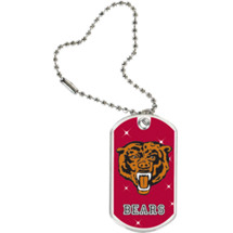 "1 1/8 x 2"" Bears Mascot Sports Tag with Key Chain"