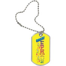 "1 1/8 x 2"" Great Performance Sport Tag with Key Chain"