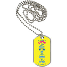 "1 1/8 x 2"" Super Star Sport Tag with 24 in. Neck Chain"