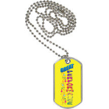 "1 1/8 x 2"" Great Performance Sport Tag with 24 in. Neck Chain"