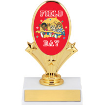 "5 3/4"" Field Day Oval Riser Trophy"