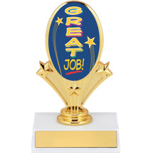 "5 3/4"" Great Job Oval Riser Trophy"