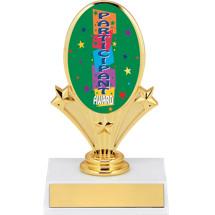"""5 3/4"""" Participant Oval Riser Trophy"""