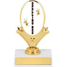 """5 3/4"""" Spelling Bee Oval Riser Trophy"""