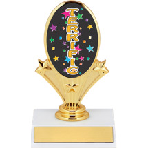 "5 3/4"" Terrific Oval Riser Trophy"