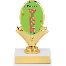 "5 3/4"" Winner Oval Riser Trophy"