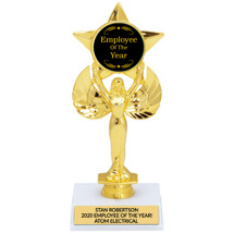 Achievement Star Emblem Trophy | Employee of the Year