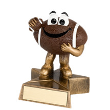 "4"" Resin Happy Football Trophy"