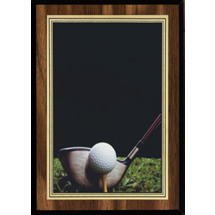 "5 x 7"" Golf Plaque with Golf Image"