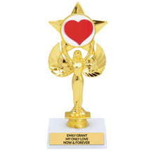 Heart Emblem Trophy | Shining Star Trophy