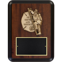 "9 x 12"" Fire Department To Serve and Protect Plaque"