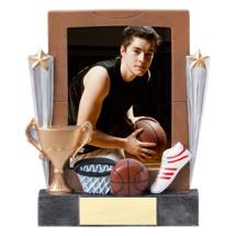 "7 1/4"" Basketball Full Color Resin Photo Award"