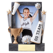 "7 1/4"" Cheer Full Color Resin Photo Award"