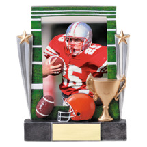 "7 1/4"" Football Full Color Resin Photo Award"