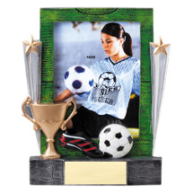 "Soccer Photo Award - 7 1/4"" Soccer Full Color Resin Photo Award"