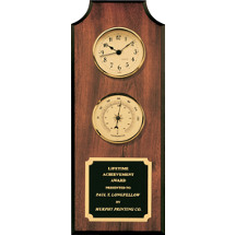 Clock & Thermometer Plaque