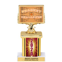 March Madness 2020 Trophy with Rectangular Column - 7""